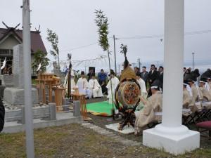 「北方領土の碑」における創立六十周年奉告祭並びに北方領土早期復帰祈願祭に参加 北方領土返還要求運動