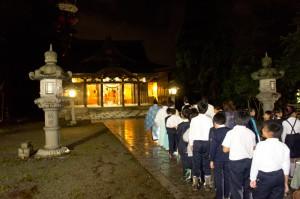 第12回夜間参拝~親と子のふれあい~ 雅楽 夜間参拝
