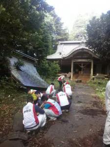 「東日本大震災」福島県双葉郡浪江町本務神社復興支援活動に参加して