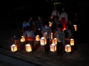 夜間参拝「知ろう、学ぼう、感じよう」を開催